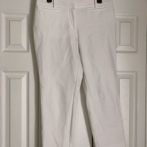White Capri Dress Pants